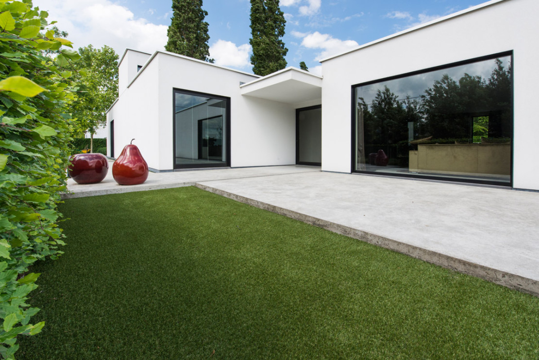Vierkante meter moderne tuin en binnentuin vierkante meter - Moderne buitentuin ...